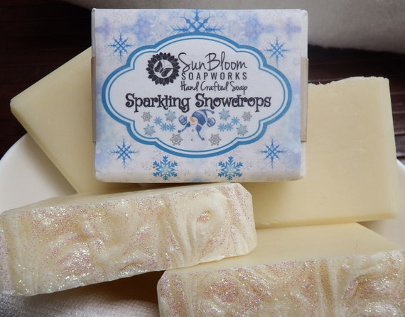 Sparkling Snowdrops Soap