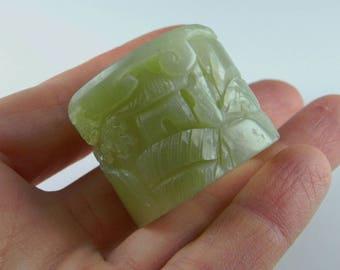 BANSHI Qing Dynasty Mens Thumb Ring Archers Ring Nephrite Jade Ring Antique Jade Ring Antique Mens Ring Natural Jade Mens Jewelry 19th C