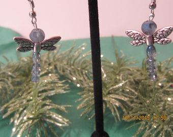 Dragonfly Earrings, Silver Earrings, Hypoallergenic, Damselfly Earrings, Purple Earrings, Green Earrings, Blue Earrings