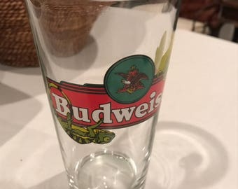Highly collectible Budweiser beer glass