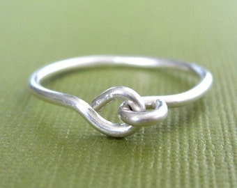 HOLDING HANDS sterling silver wire ring