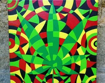 Rasta Vibes - Mosaic Style Painting