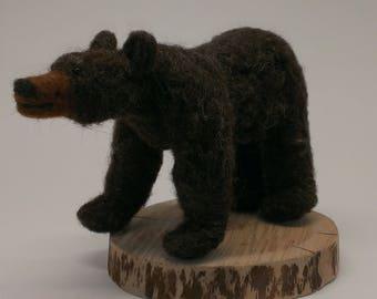 Felted Bear Sculpture