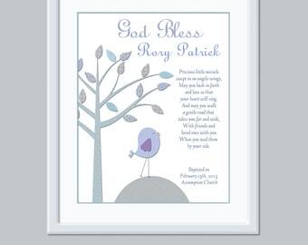 Baby Boy Baptism Gift - Personalized Baptism Gift - Baptism Keepsake - Baby Dedication Gift - Baptism Print - Printable Christening Gift