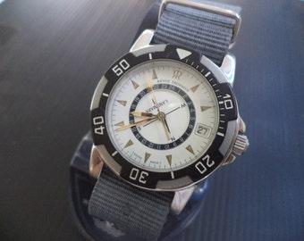 "Luxury  Swiss Revue Thommen ""Landmark"" Sapphire Crystal ETA Movement, New Nato Bracelet"