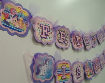 My Little Pony Banner - Friendship is Magic Banner - My Little Pony Party Decoration - Birthday Party Banner - My Little Pony Party