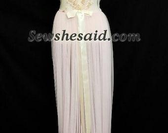 Sheer Robe Peignoir Dressing Gown