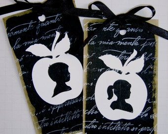 All Occasion Tags, Gift Tag Silhouette Bookmarks, Handcrafted Tags, Thank You, Teacher Appreciation
