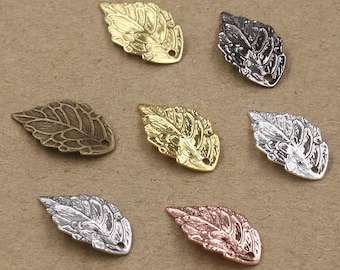Set of 6 charm leaf, multicolored ref FP98