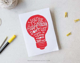 You're amazing card, Mothers day, Inspirational card, Motivational card, Love card, Printable card, Valentines, Fathers day, Friendship card