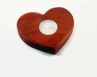 Valentines gift Heartshaped Candleholder Wife gift Girfriend gift For her Wooden tealight holder Decorative candle centerpiece Womens gift