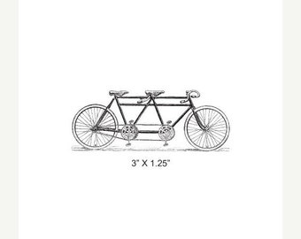 Mothers Day Sale Tandem Bicycle Rubber Stamp 386