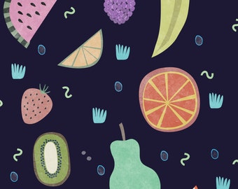 fruit  poster          illustration design collage