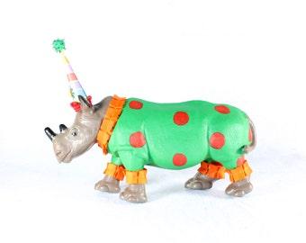 "Custom Order ""Rhino"" Jumbo Party Animal- painted carnival, circus, and birthday decor"