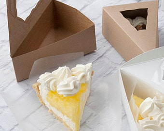 Kraft Individual Pie Box with Window, Bake Sale, Wedding Favors,  30 boxes , Gift Boxes ,Party Favor Boxes