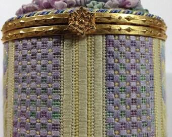 Needlepoint Oval Box Finishing Instructions - Digital Download