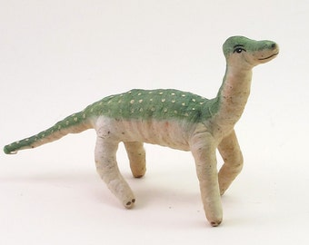 Vintage Inspired Spun Cotton Brontosaurus Dinosaur Ornament/Figure (MADE TO ORDER)