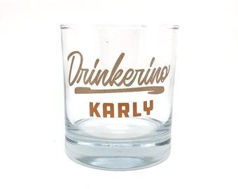"My Favorite Murder - ""Drinkerino"" Personalized Rocks Glass"