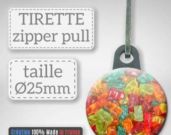 Gummies candy gummy bears candy sugar gift Badge pull Zipper 25 mm