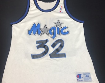 Vintage White Orlando Magic Shaquille O'Neal Champion Basketball Jersey