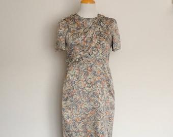 1940s Style Handmade Dress Silky Vintage