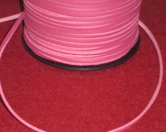 one meter of dark pink suede leather cord / fuchsia 2.7 mm