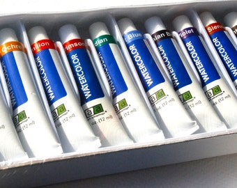 Watercolor Paint Art Supplies 12 tubes of Watercolor paints Watercolors