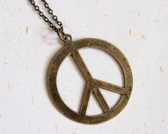 Joy and Peace - Symbol of Peace Necklace (N175)