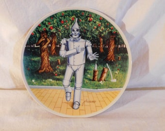 Wizard of Oz Tinman If I only had a heart Collectible Plate Knowles China MGM Movie Collectible