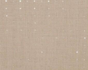 Fabricut Sequin, Linen Silver