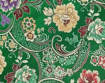 150 CM. Fabric of beautiful brocade embroidery of luxury A211