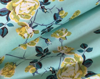 Anna Maria Horner Fabric Floral Retrospective PWAH117 Social Climber Ice By the Yard Modern Floral 100 Percent Quality Cotton -Yard