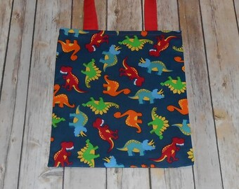 Kid's/Toddler Tote Bag- Dinosaurs