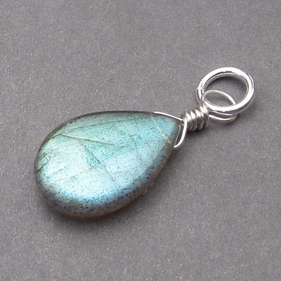 Huge Labradorite Pendant, Sterling Silver Wire Wrapped Pendant ...