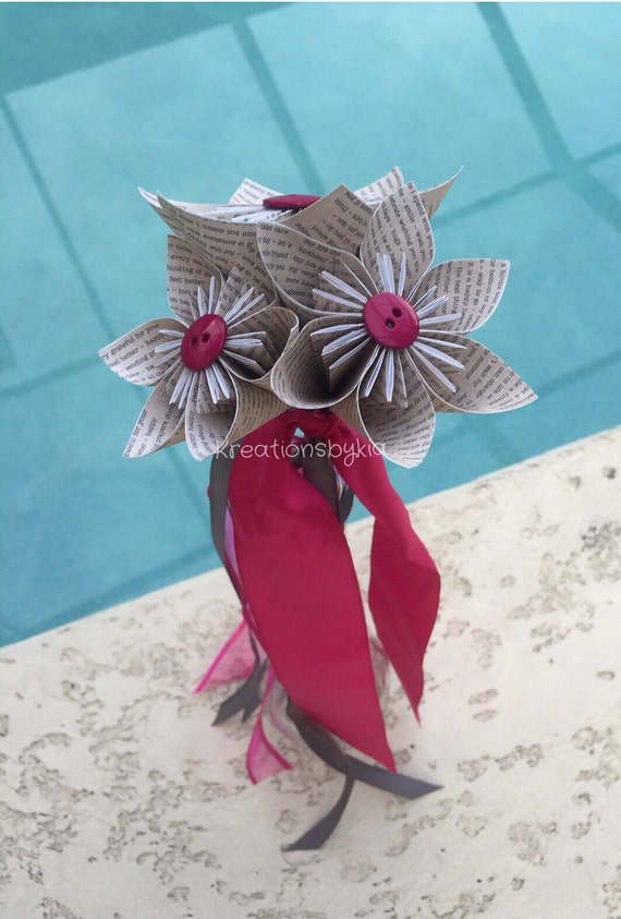 origami book print paper flower girl wand origami flower