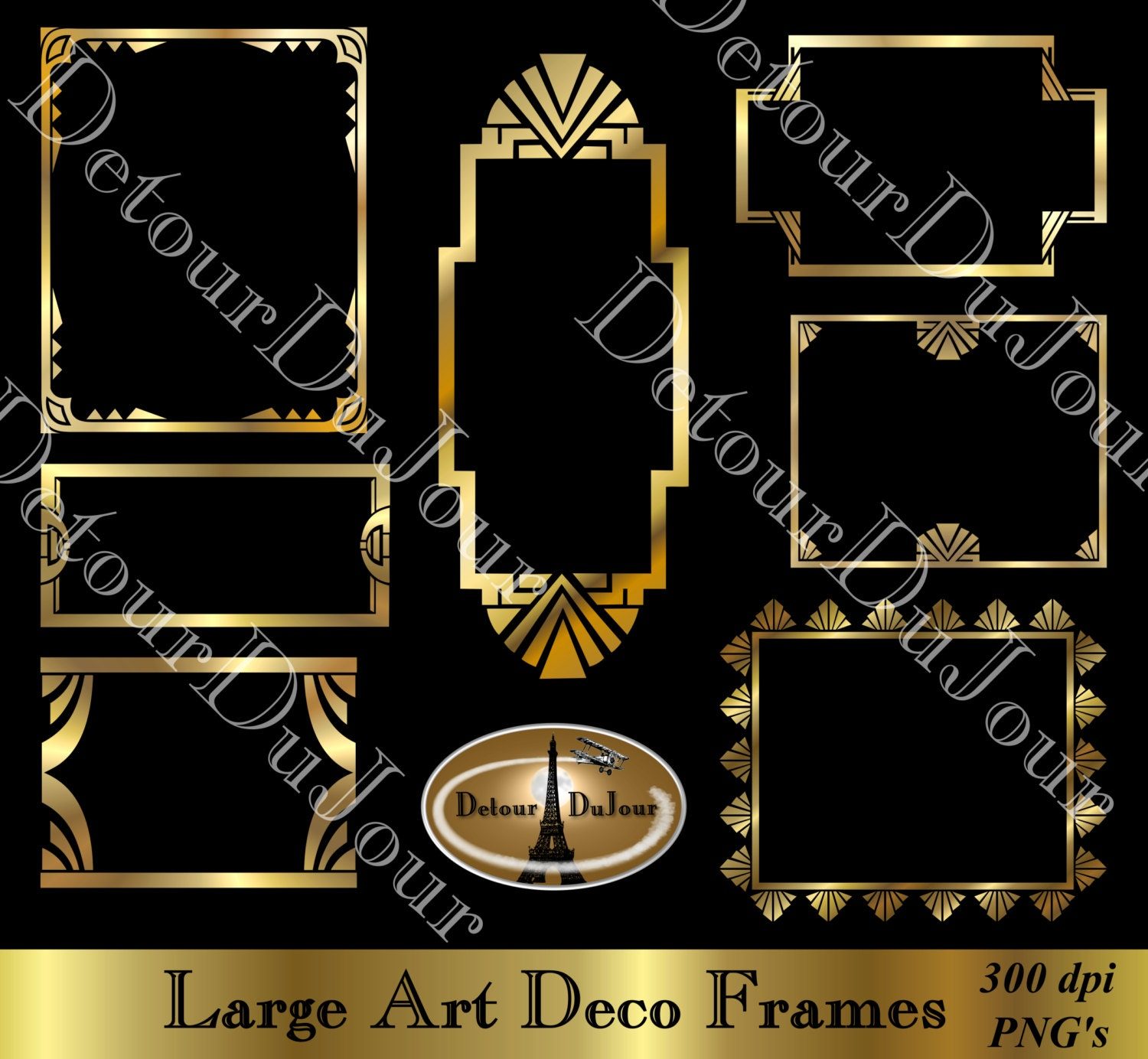 Art Deco Boarder Royalty Free Great Gatsby Clip Art Vector Images