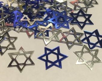 25 piece LARGE Star of David confetti , 15 mm (25)C