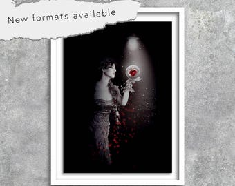 Digital photomanipulation decor art poster-poster wall instant download A1 A2 A3 A4 A5 16 X 20 18 X 24 50 X 70