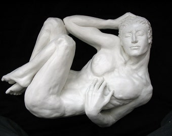 Yvain:  Male Figure, Sculpture, Figurative, Figurative Art, inspirational art, Medieval,  fine art sculpture