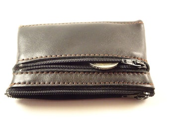 Leather wallet double Mirly leather zip - France