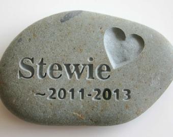 Custom Engraved Pet Memorial Stone Dog Cat Pet Loss Grave Marker