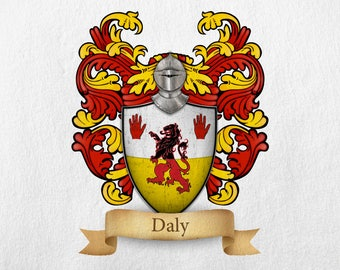 Daly Family Crest - Print