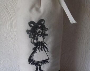 Alice, Water Bottle Holder, Soda Bottle Cozy, Water Bottle Cozy, Insulated Water Holder, Alice in Wonderland, Lined Cozy, Beverages Hot Cold