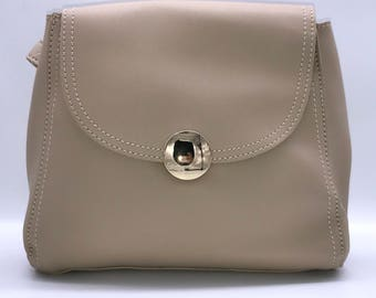 Beige Small Ladies Crossover Handbag