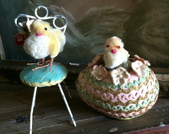 Oh Her Little Easter Pom Pom Chicks Got An Adorable Place To Rest