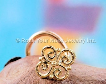 Nose Stud Gold/Indian Nose Ring/Dainty Nose Stud/Solid Gold Nose Ring/Nose Stud 24G/Nose Stud 22G/Nose Stud 20G/ Nose Stud 18G/- CUSTOMIZE