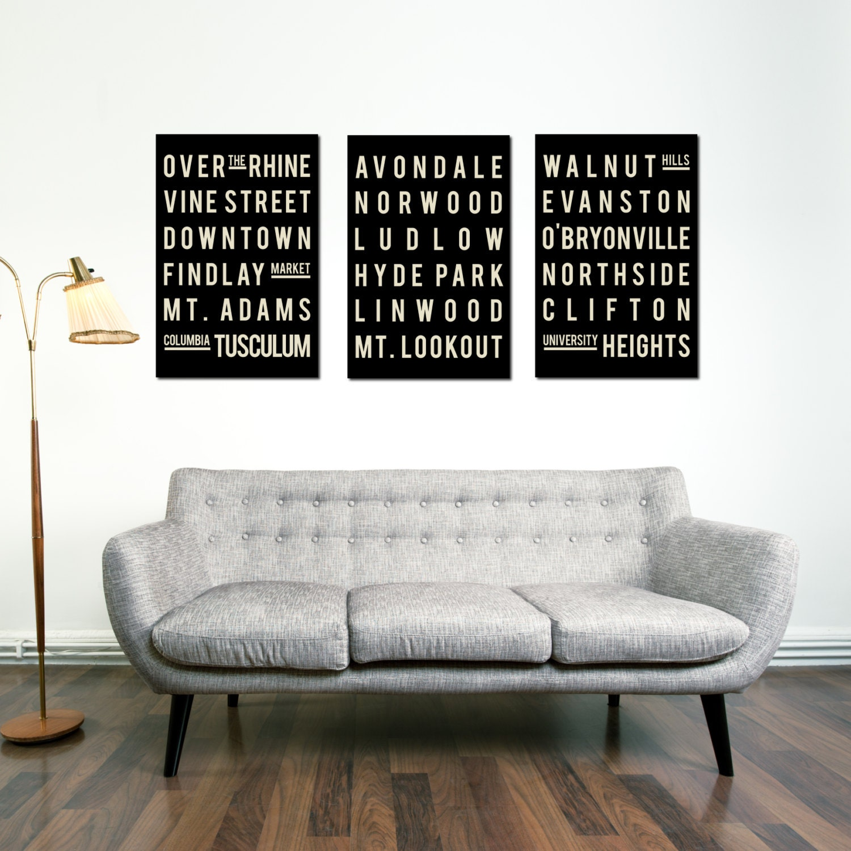 home decor cincinnati.  zoom CINCINNATI Print Subway Sign Typography Poster Home