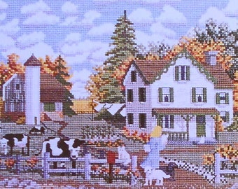 Cross Stitch Pattern | Julia Lucas | Getting The Mail At CROSS FARM | Counted Cross Stitch Pattern | Chart | fam