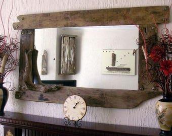 Panoramic driftwood mirror