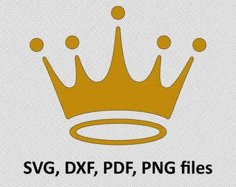 Crown SVG/ Crown DXF/ Crown Clipart/ Crown Files, printing design, cutting, silhouette, DXF, Crown vector, Crown, King